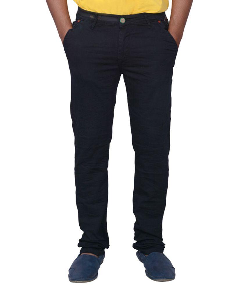 Luker Black Regular Fit Jeans