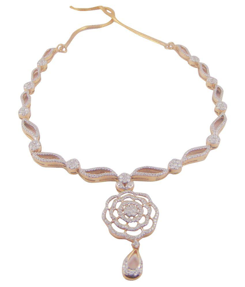Panachand Manordas Shah Jewellers LLP 18kt Gold Colour Spark Necklace Set