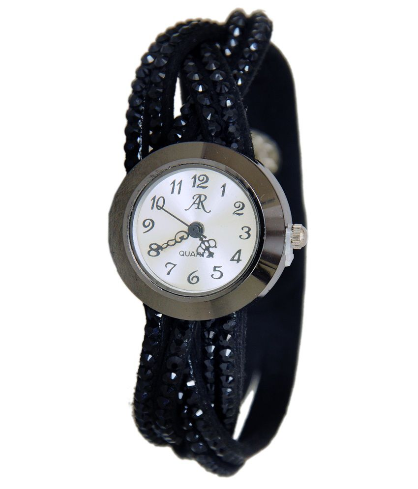 Cosmic Black Rubber Analog Watch