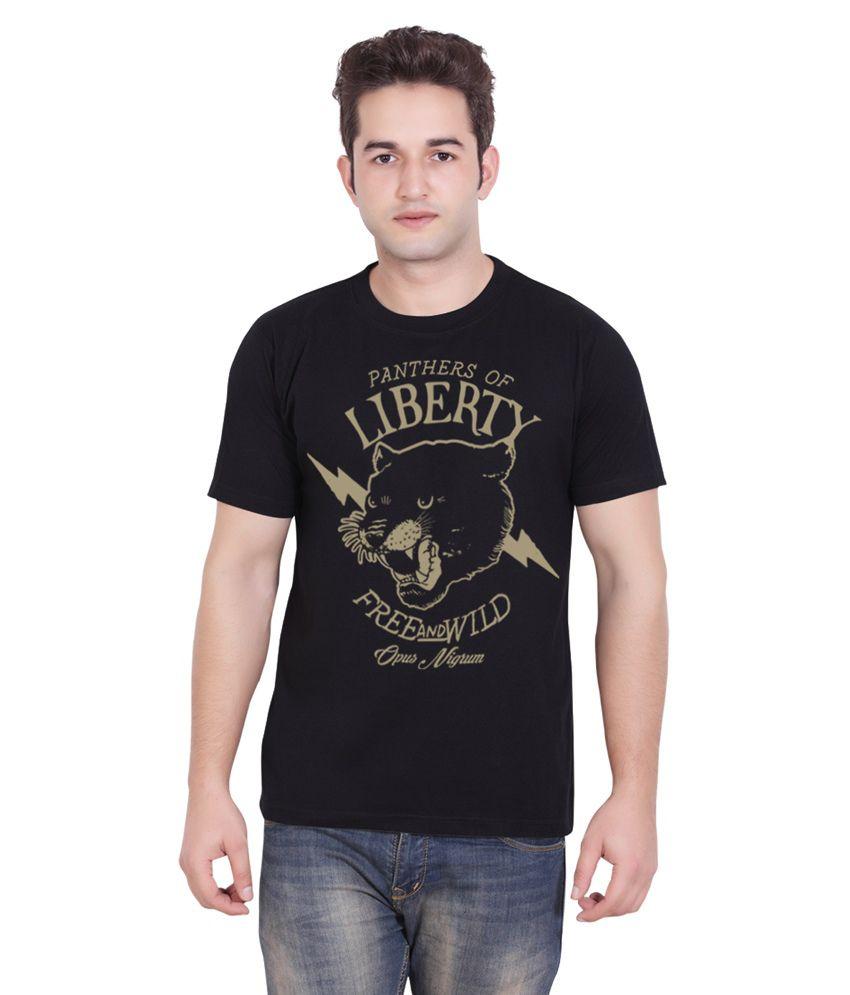 Tantra Black Cotton T-shirt