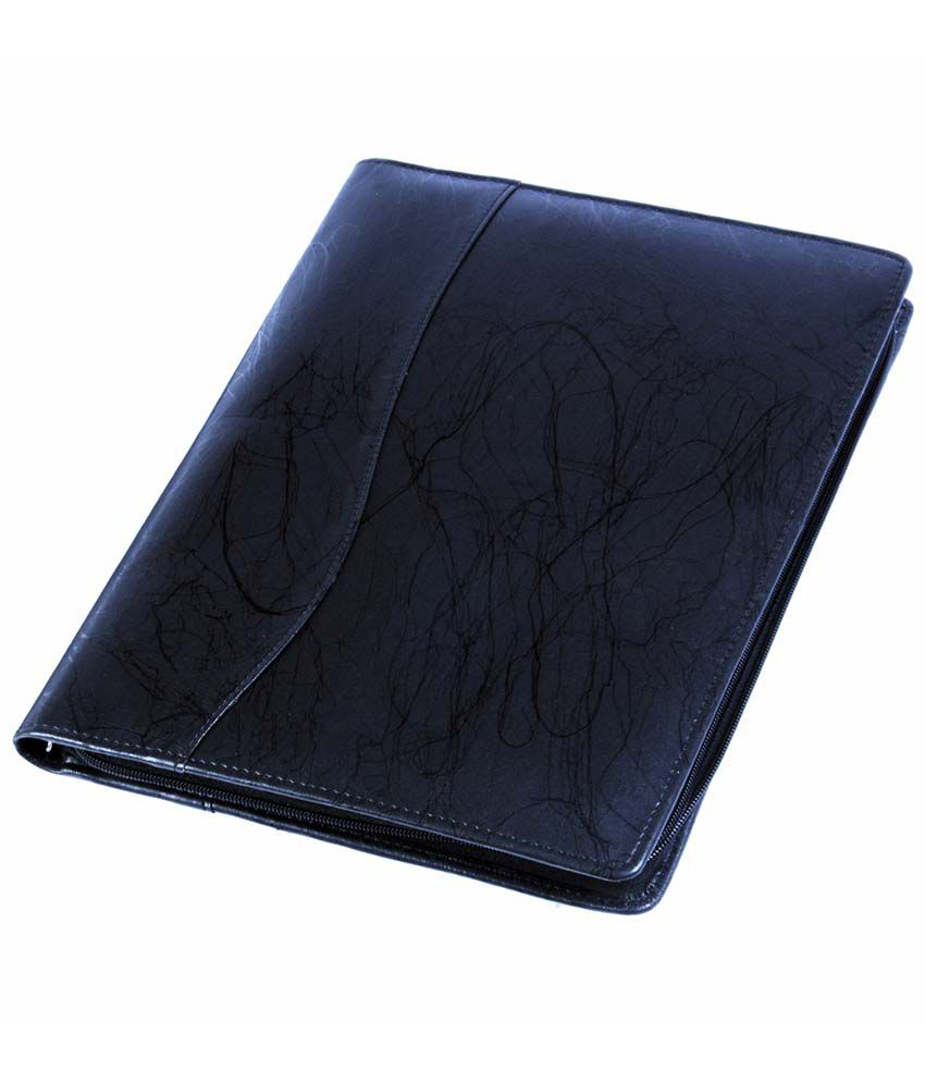 coi black leatherite document folder  buy online at best