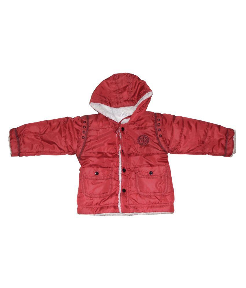 Dear Daughter Red Fleece Denim Jacket