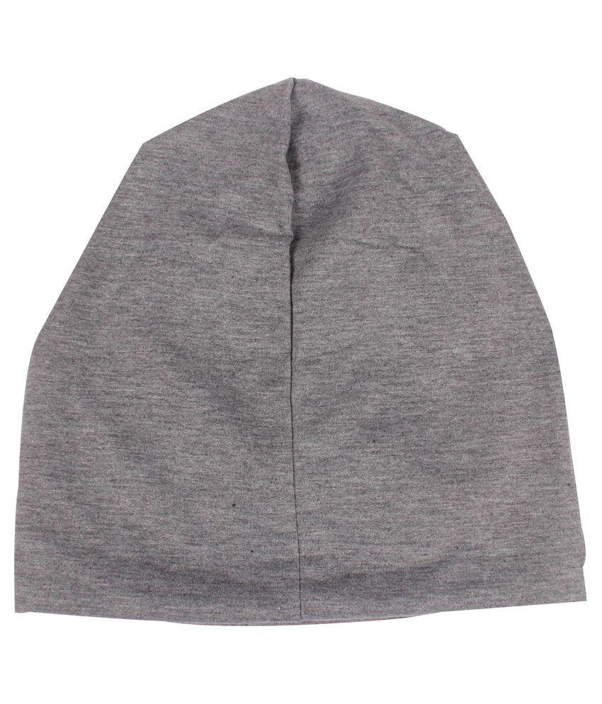 a099f060e Fabseasons Grey Cotton Beanie Cap