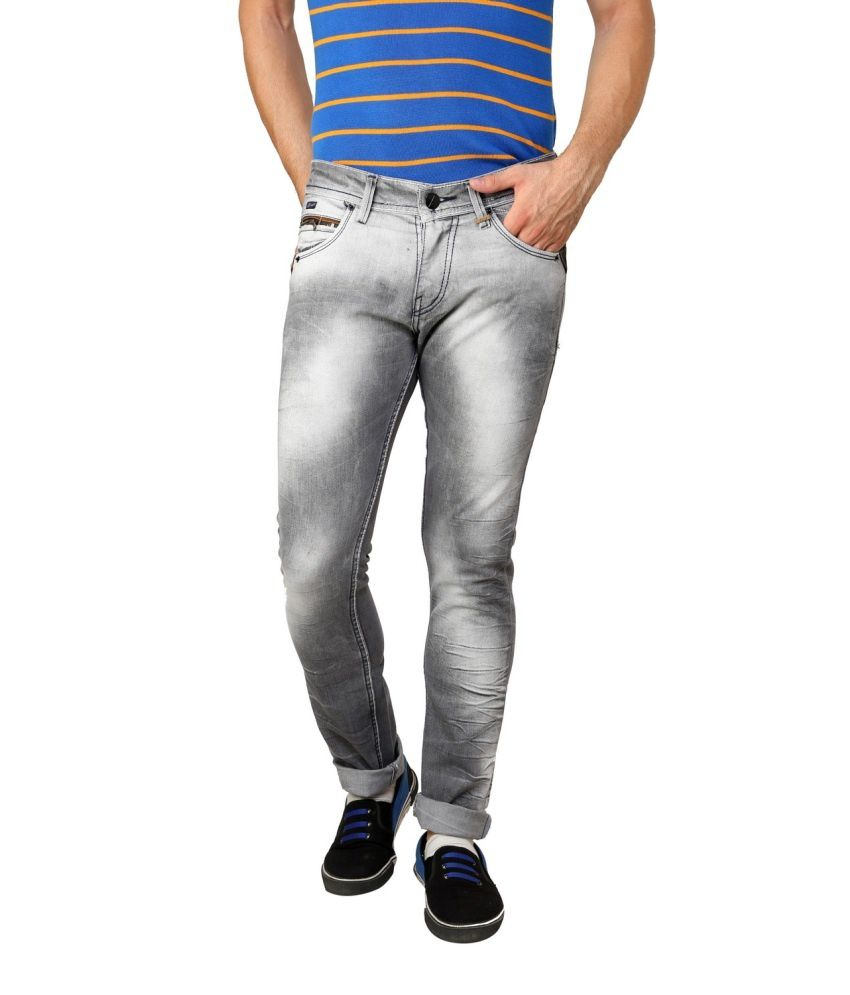 Zaab Blue Slim Fit Jeans