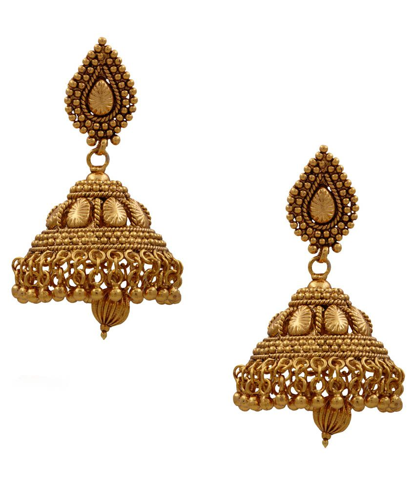 Hyderabad Jewels Golden Wedding & Engagement Wear Jhumkis