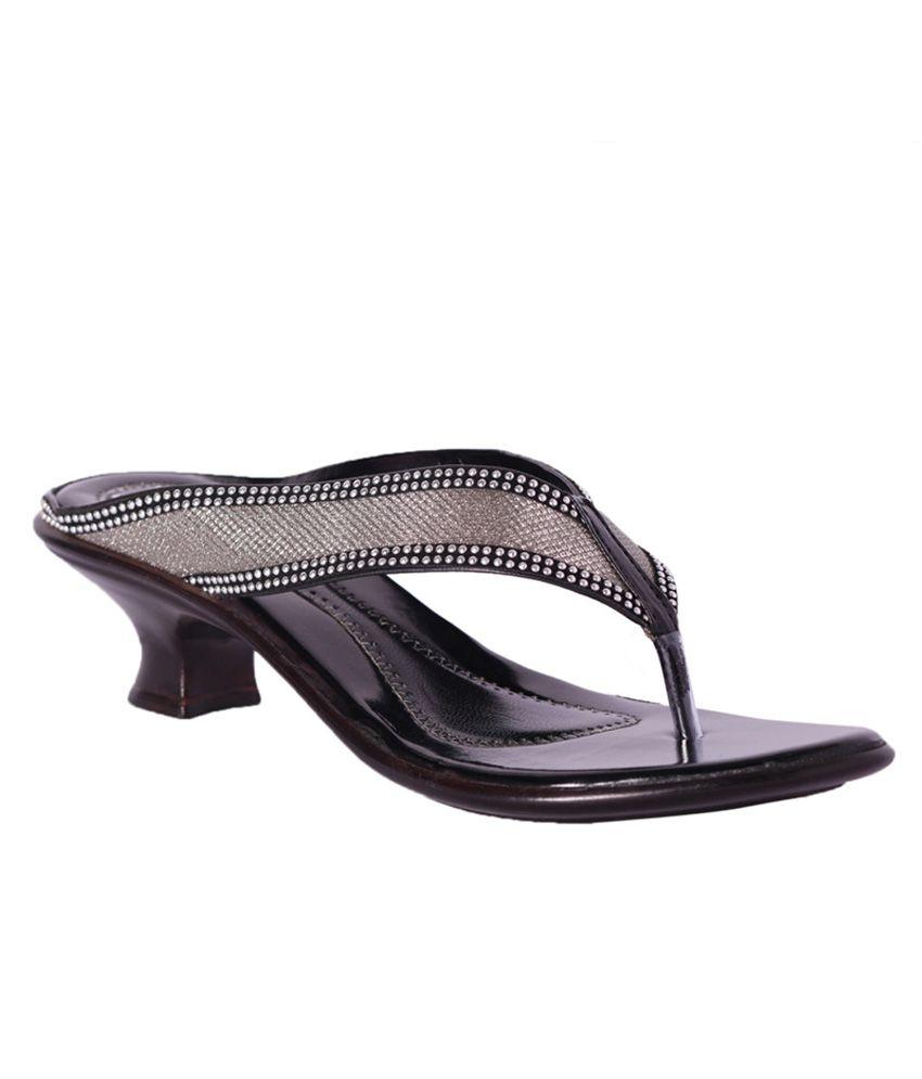 Pantof Black Heeled Slip-On