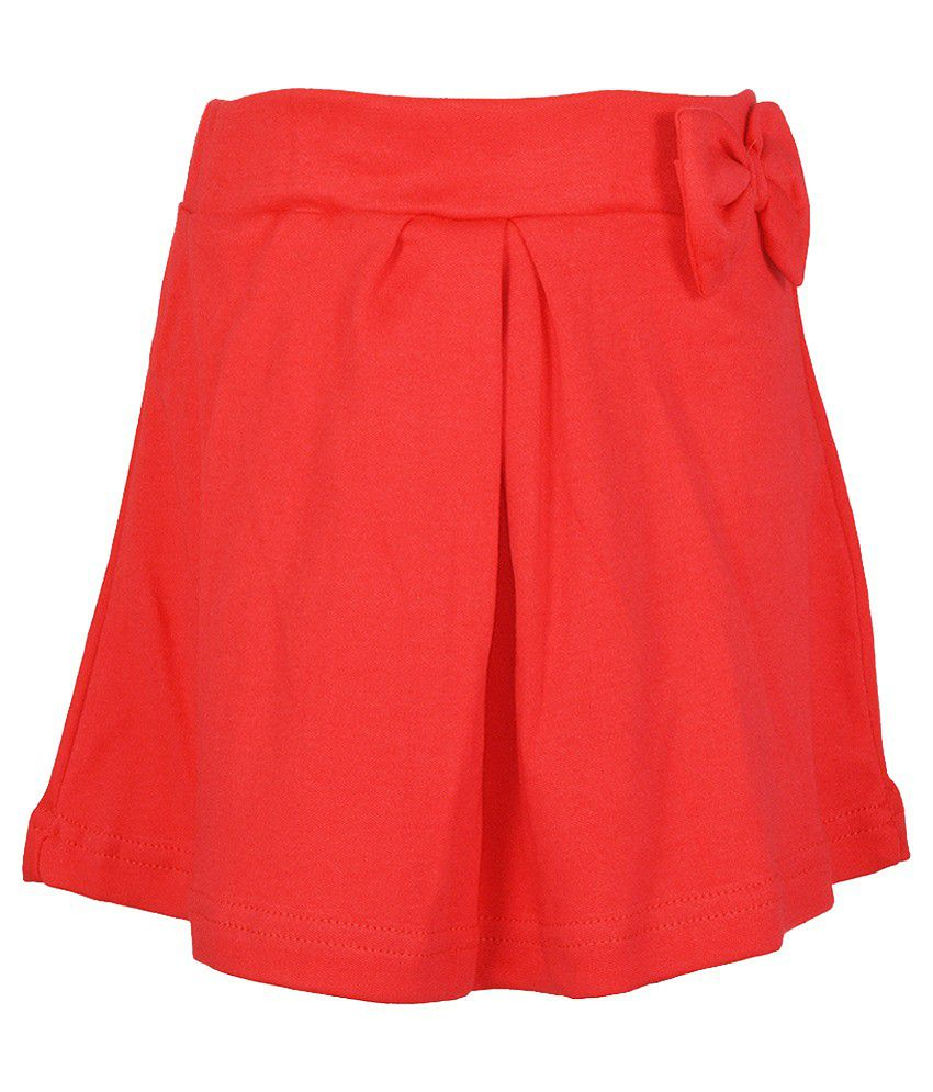 Lil Orchids Red Skirt