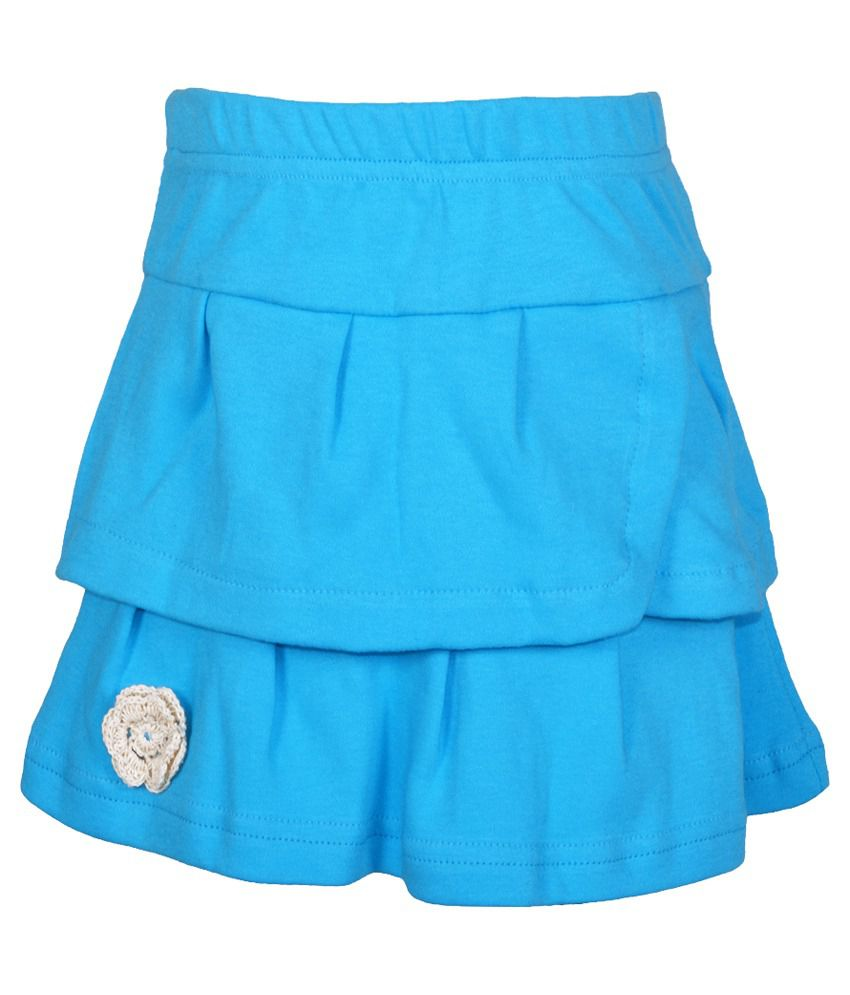 Lil Orchids Turquoise Skirt