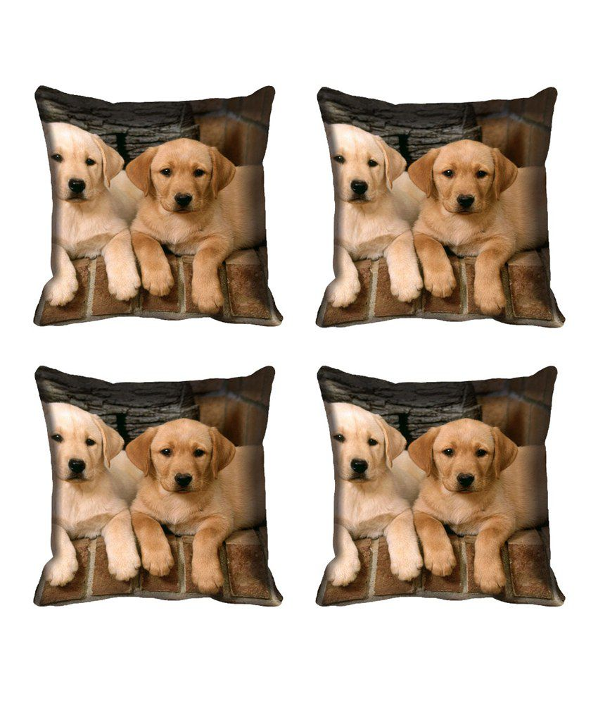 Mesleep Beige Satin Cushion Cover