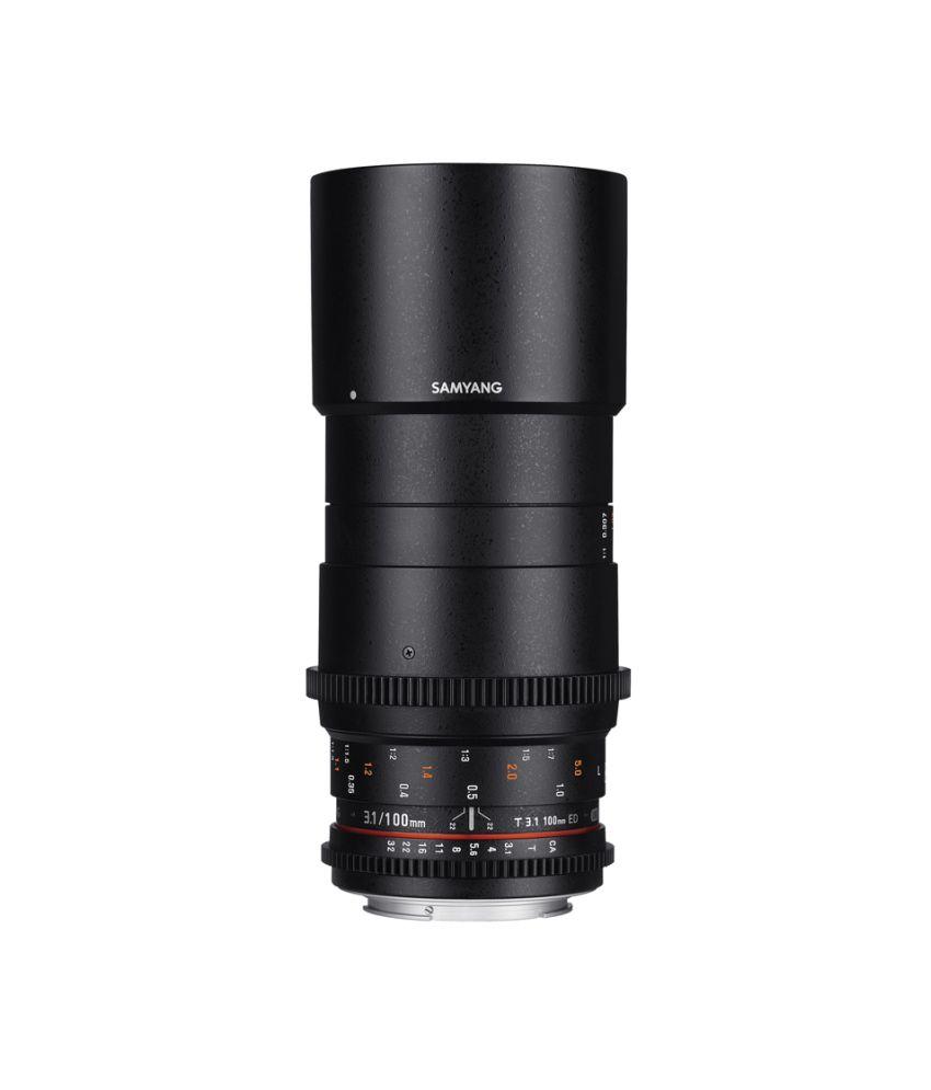 Samyang 100mm T3.1 VDSLR MACRO Canon EF Lens