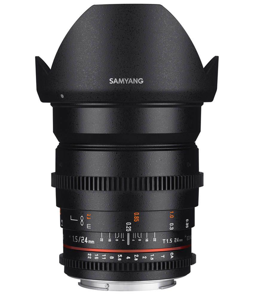 Samyang 24mm T1.5 VDSLR II Canon EF Lens