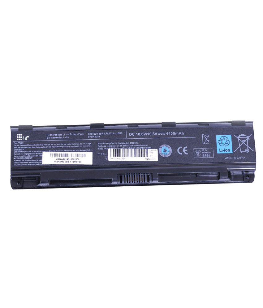 4D 4400 mAh Li-ion Laptop Battery for Toshiba S875-03R