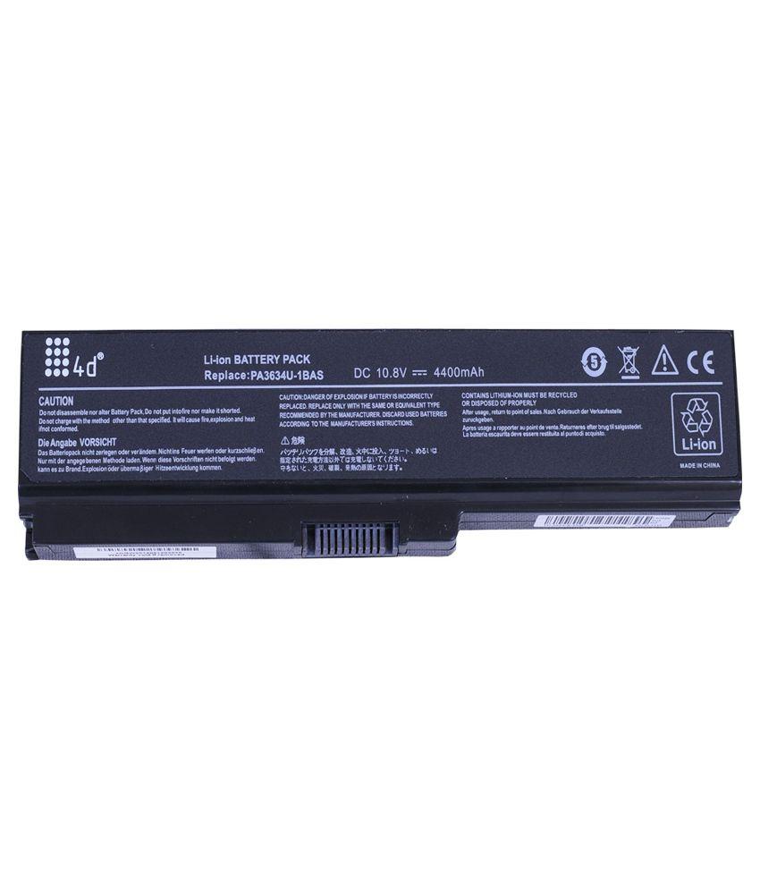 4D 4400 mAh Li-ion Laptop Battery for Toshiba M305D-S4829