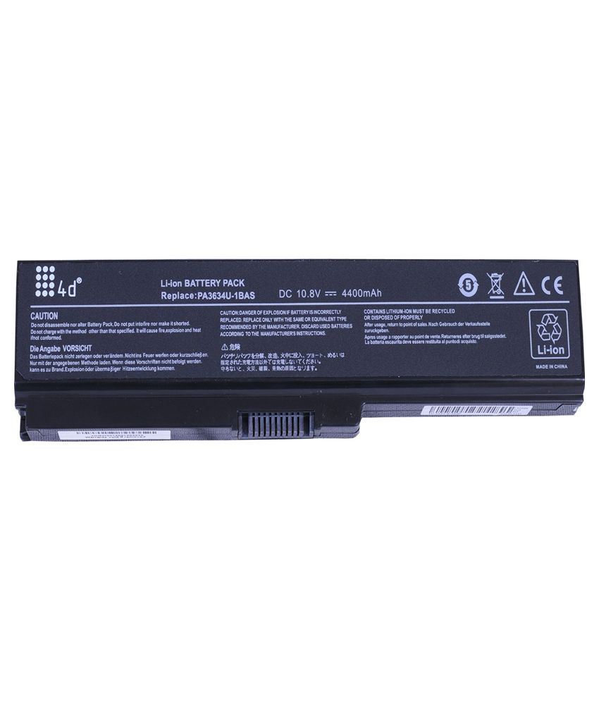 4D 4400 mAh Li-ion Laptop Battery for Toshiba C660D-16Q