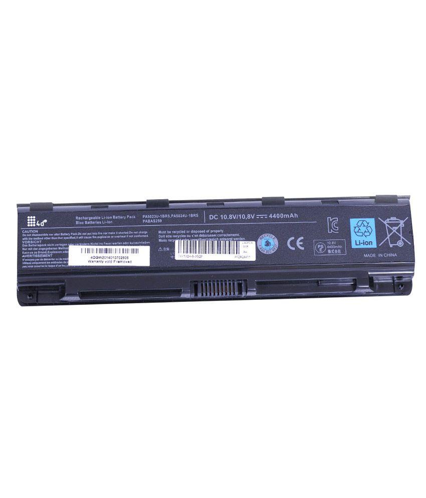 4D 4400 mAh Li-ion Laptop Battery for Toshiba C855-1RP