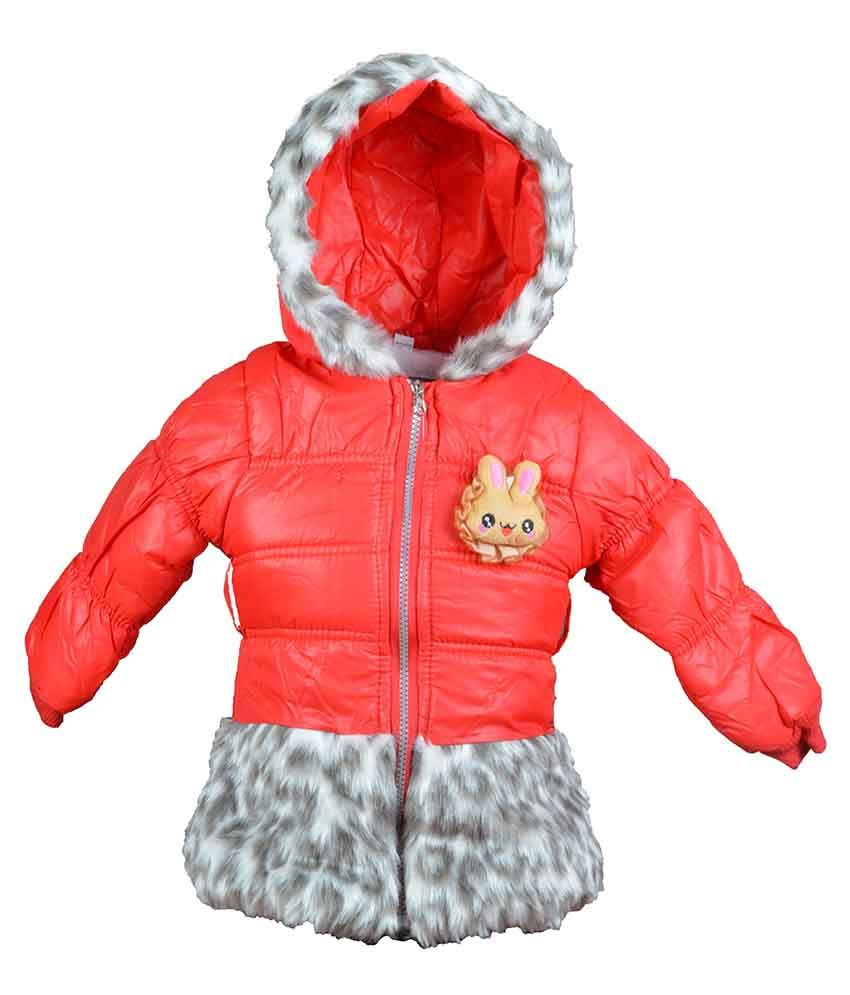 Baby Doll Red Padded Jacket For Girls