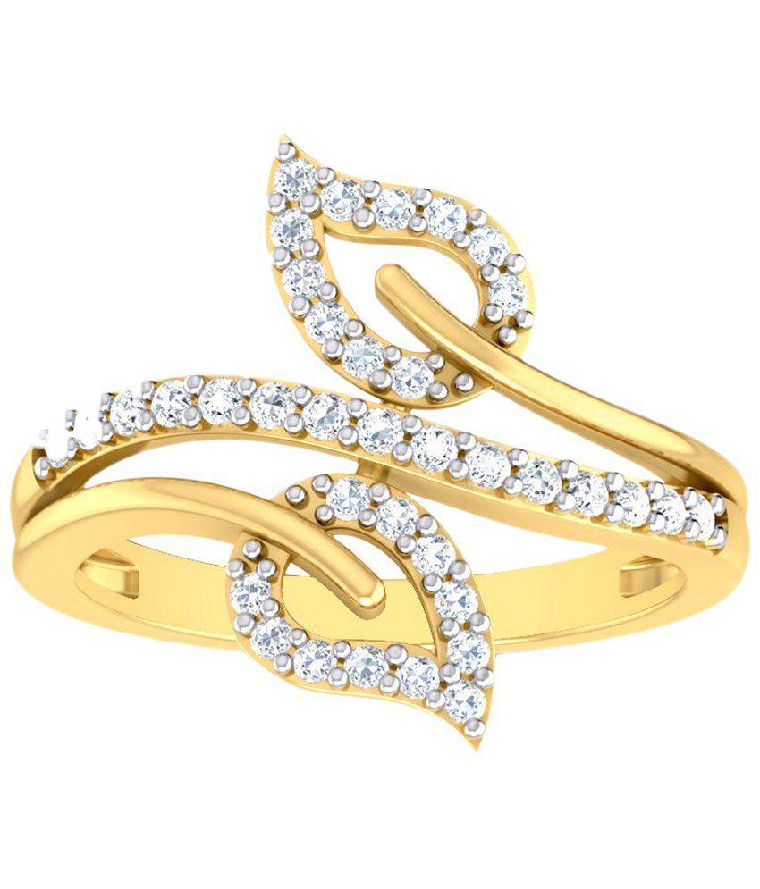 Jewel Country 18 Kt Yellow Gold Diamond Ring