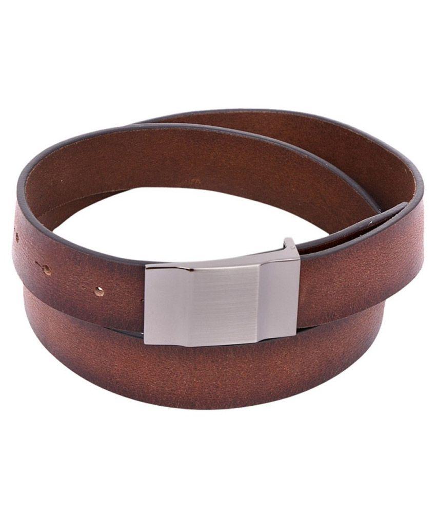 OHM New York Brown Formal Belt For Men