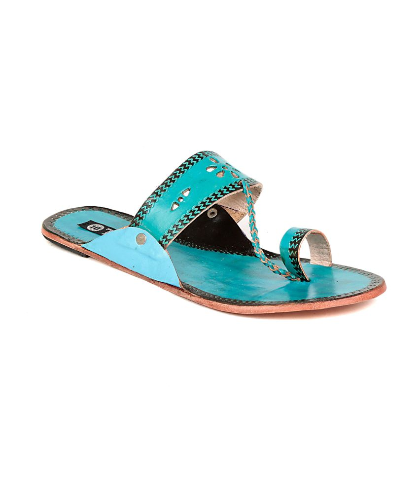 Ten Turquoise Slippers