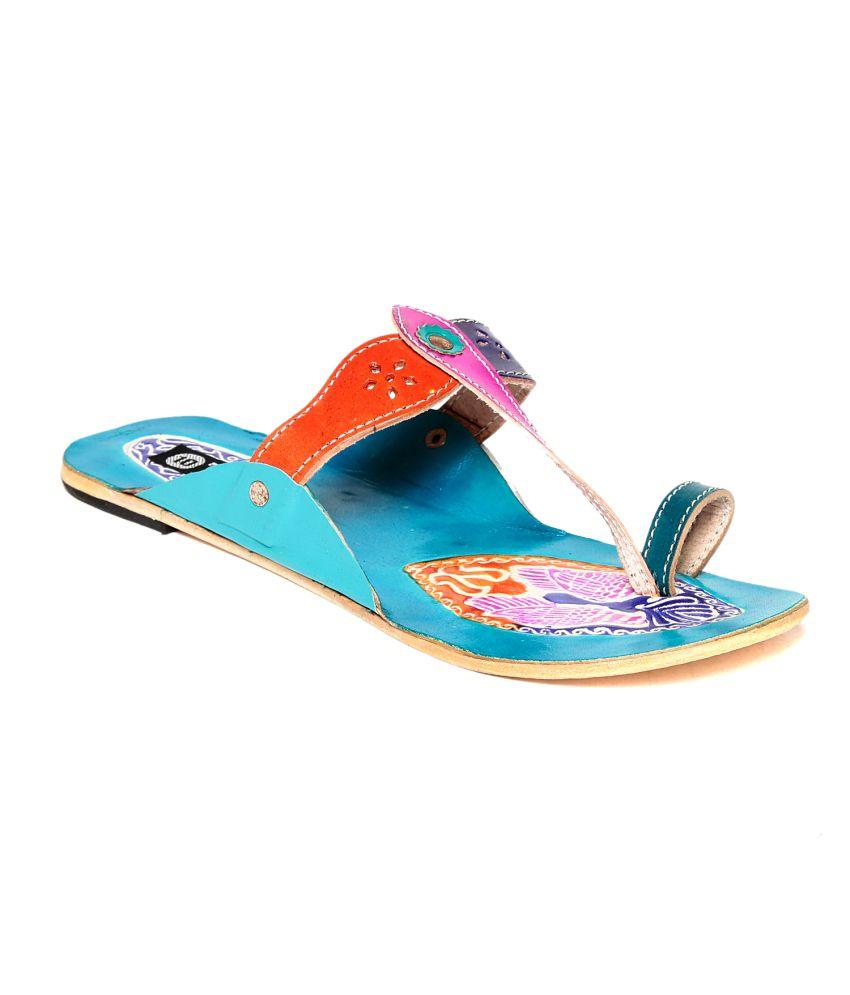 Ten Turquoise Slippers