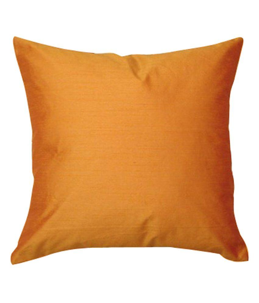 Ally Orange Plain Cotton Cusion Cover Set of 5 Pcs