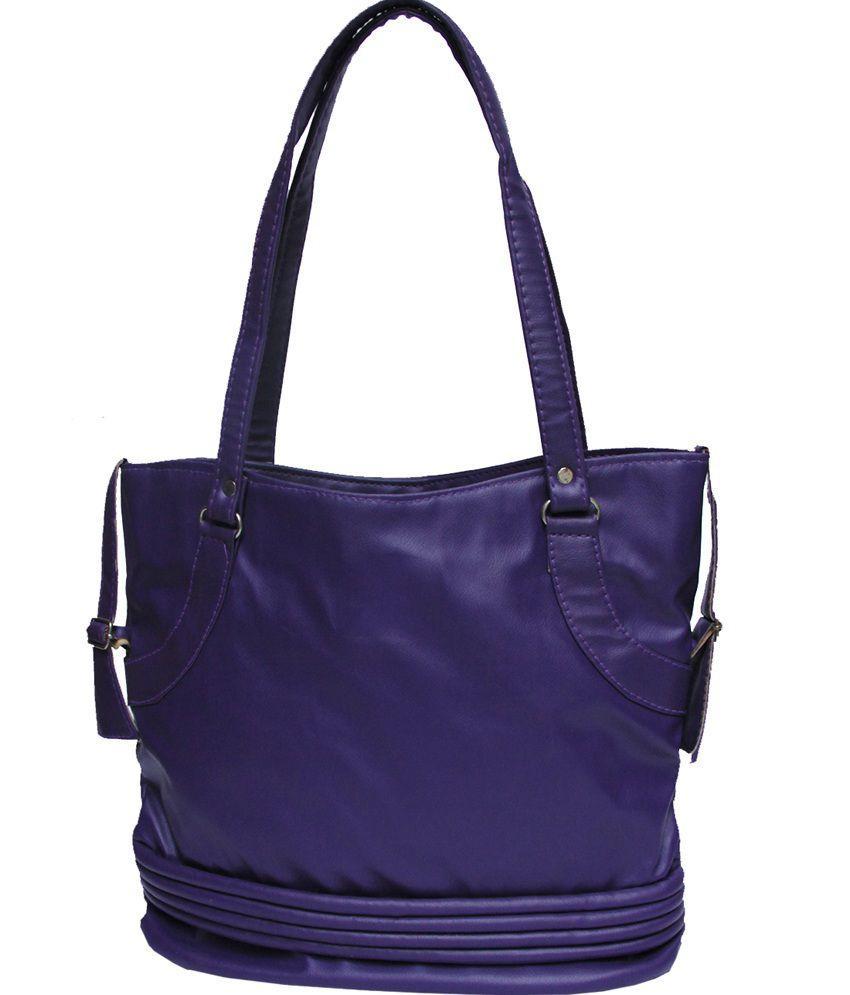 Bags Beautys Blue P.U. Shoulder Bag