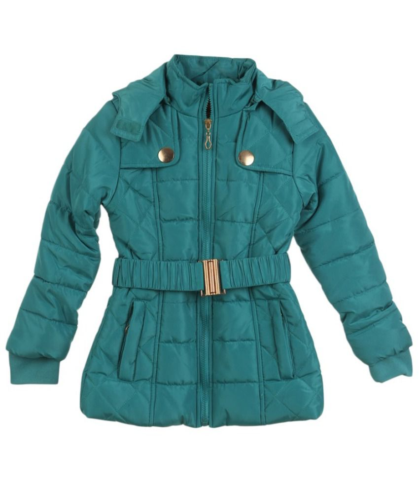 Lilliput Blue Polyster Full Sleeve Jacket With Hood