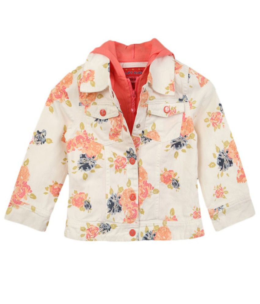 Lilliput Pink Cotton Spandex Full Sleeve Jacket With Hood