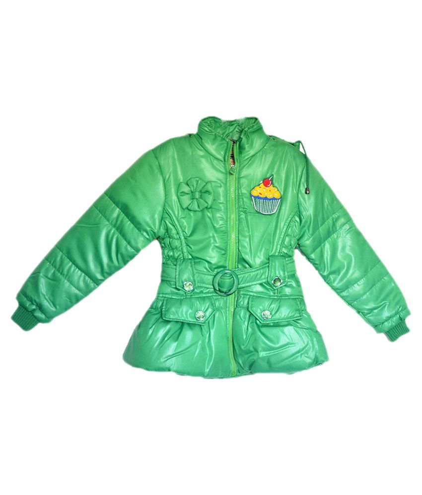 London Girl Green Ice Cup Hooded Jacket For Girls