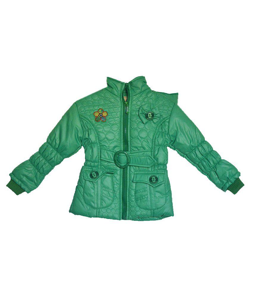 London Girl Green Hooded Jacket for Girls