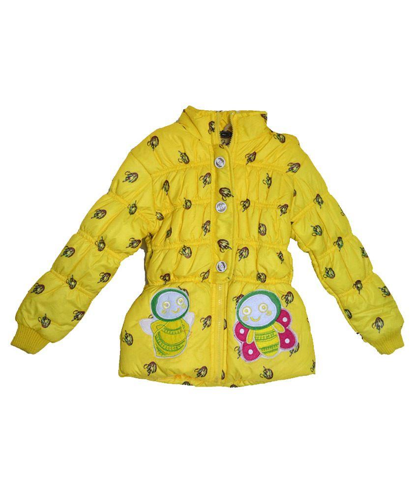 London Girl Stylish Yellow Hooded Jacket for Girls