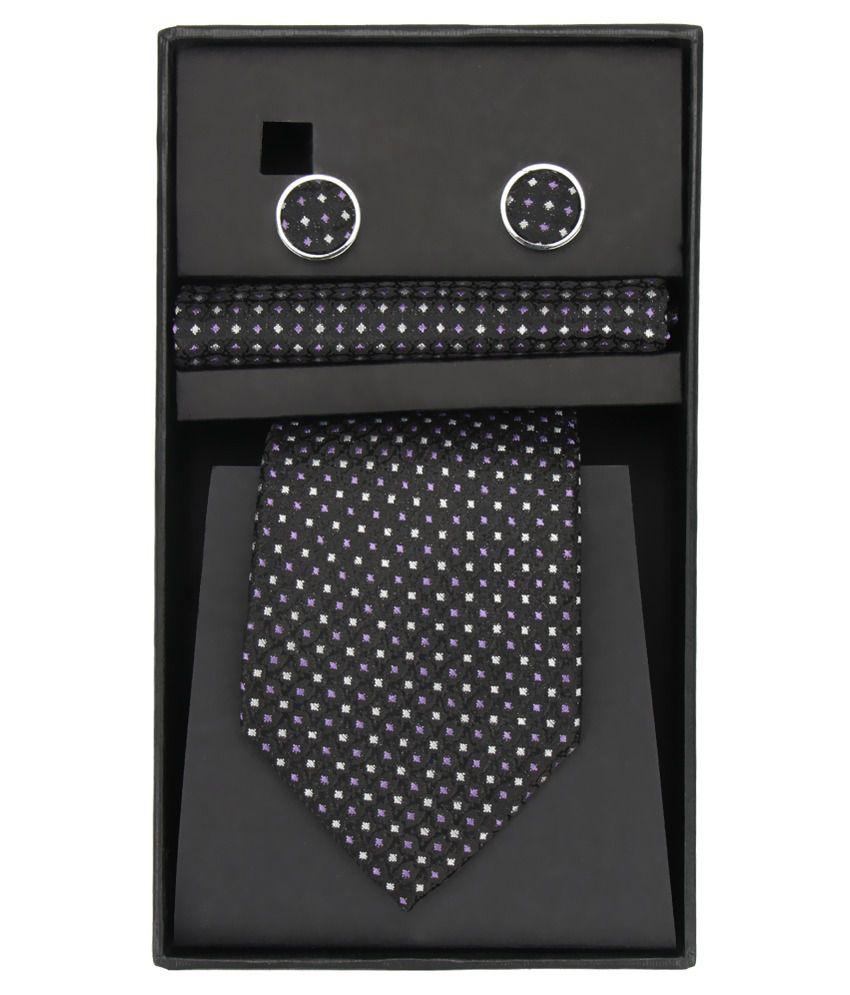 Magson Neo White Jacquard Polka Dots Formal Tie
