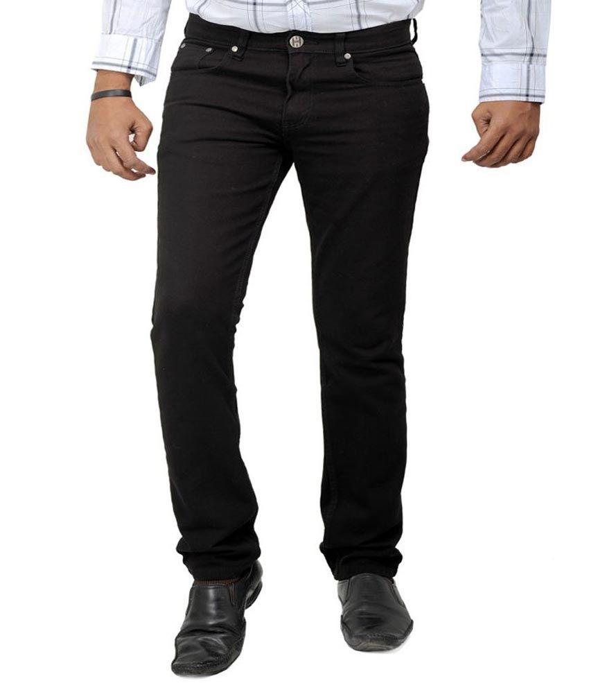Masterly Weft Black Regular Fit Jeans