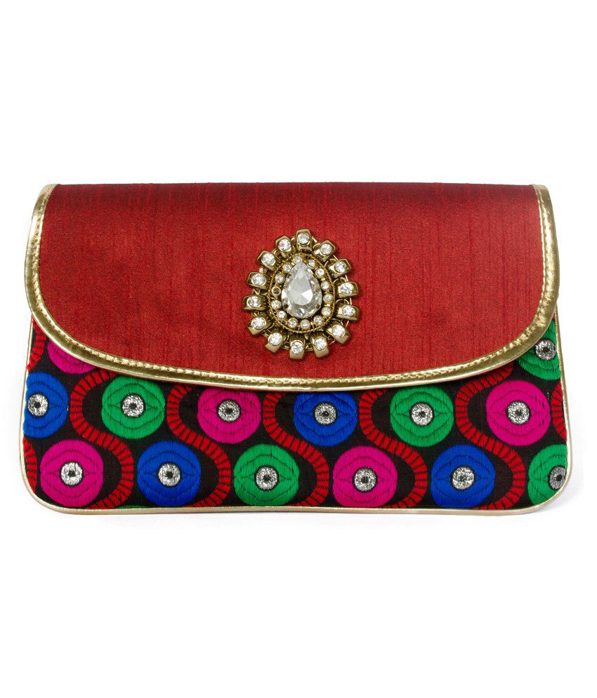 Designish Red Clutch
