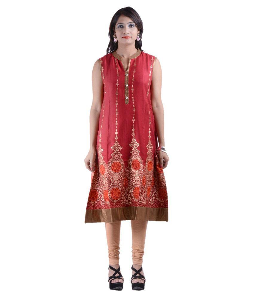 One-x Woman different yoke kurti cotton kurti