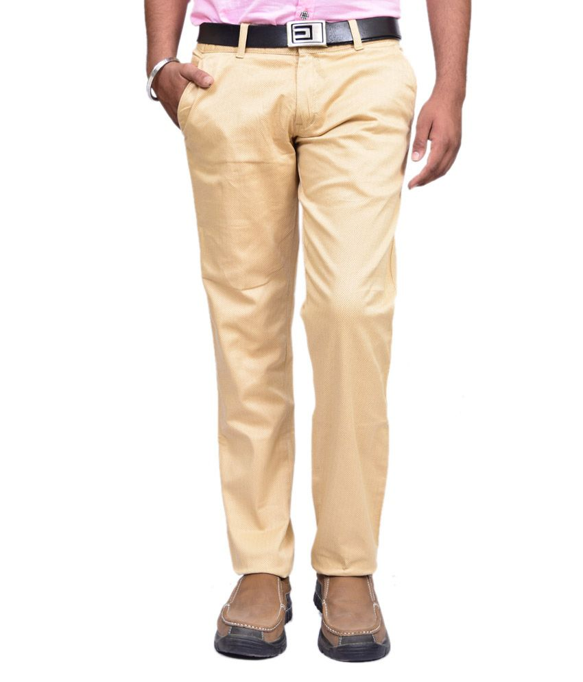 British Terminal Beige Slim Fit Casual Chinos