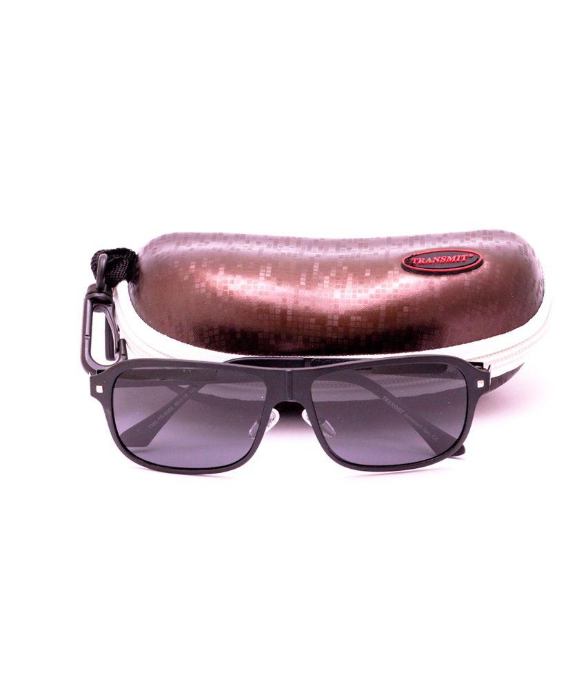 Transmit Black Sport Sunglasses