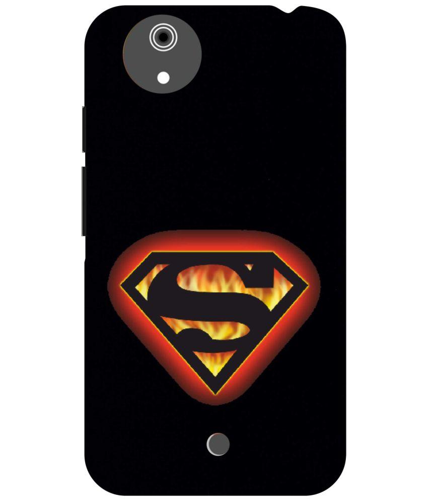 Dot Print Superman Logo Printed Back Cover For Micromax