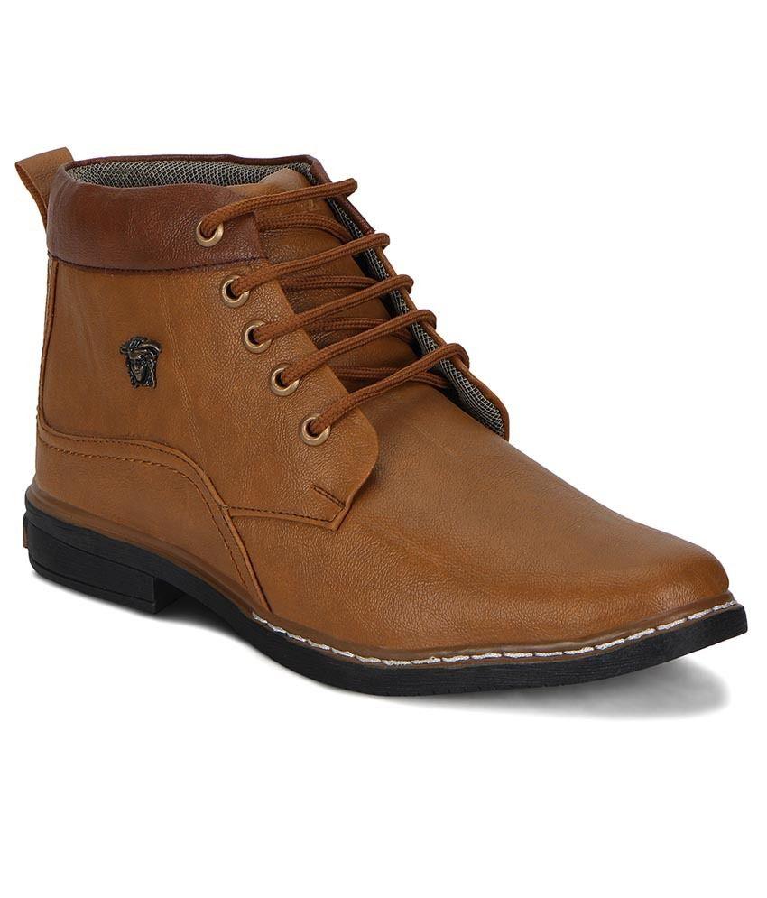 The Palaash Tan Boots