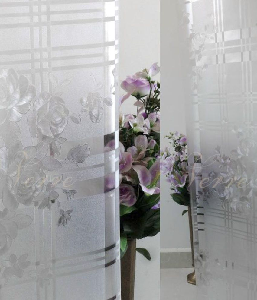 Verre Static Decorative Frosted Window Film Wall Sticker