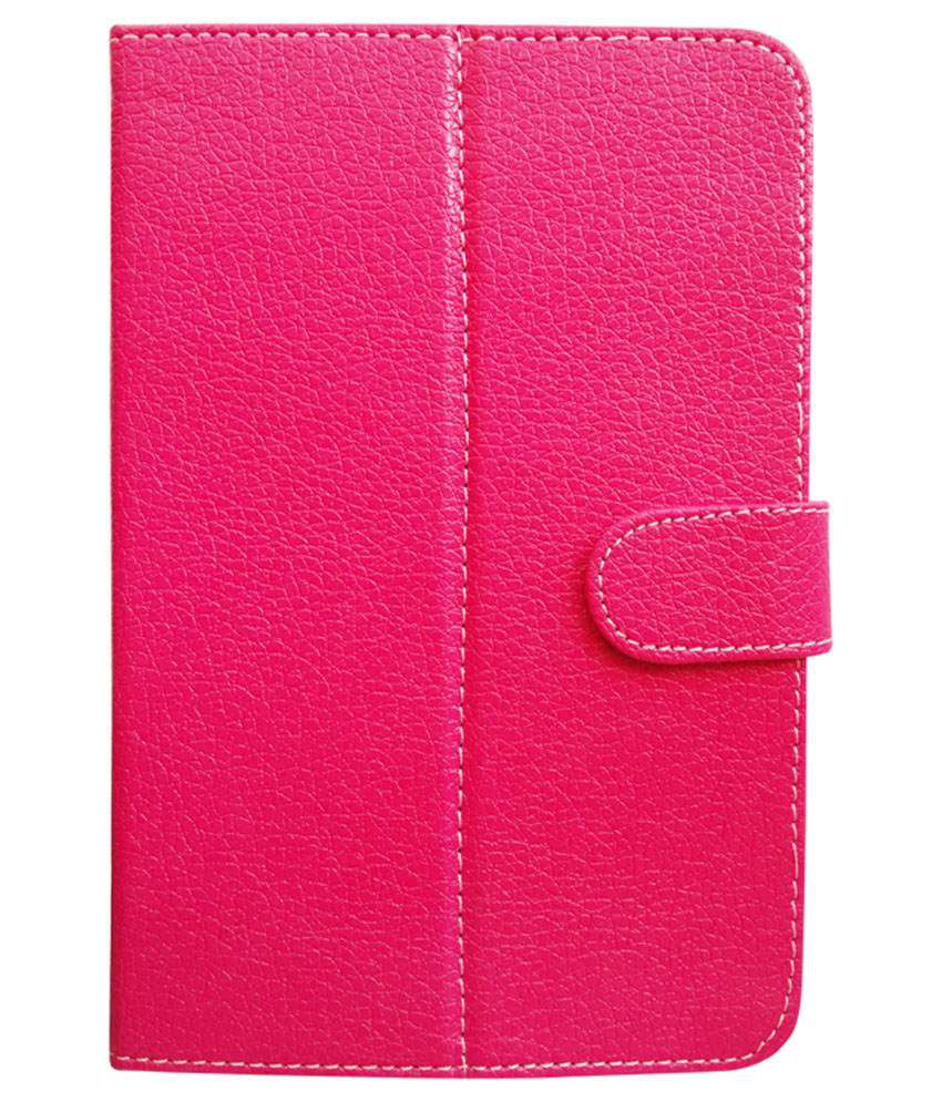 Fastway Flip Cover For iBall Slide 6351-Q40 - Pink