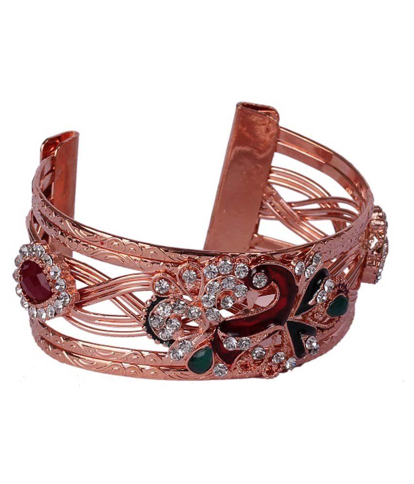 Dadu Diamonds Multi Coloured Beaded Designer Cuff