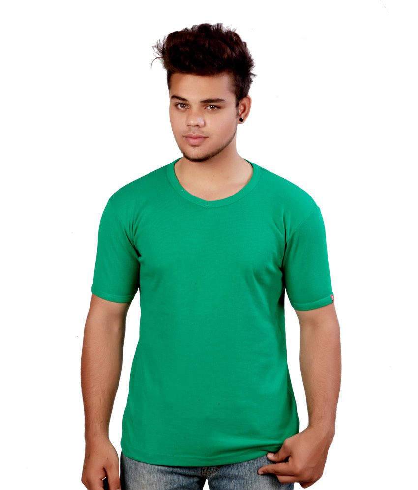 Nithin Textiles Green Cotton T-shirt