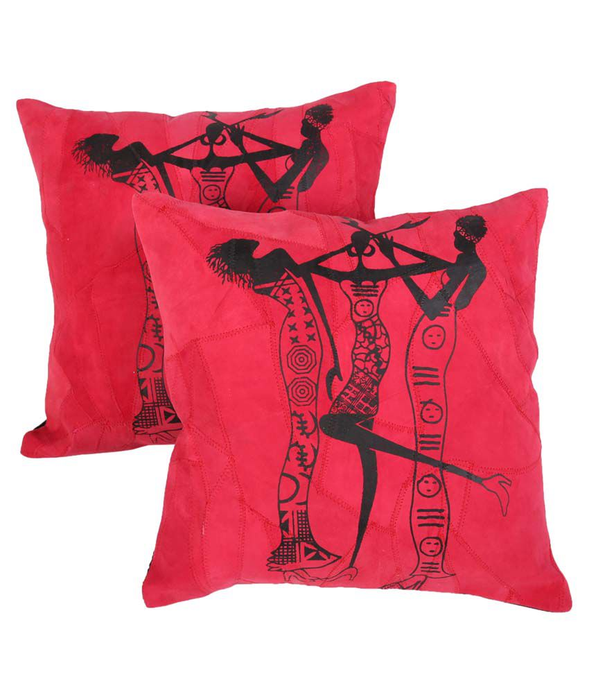 Rajrang Red Cushion Cover - Set of 2