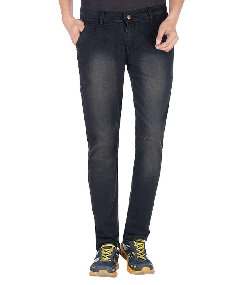 11 Stitches Garments Black Slim Fit Jeans
