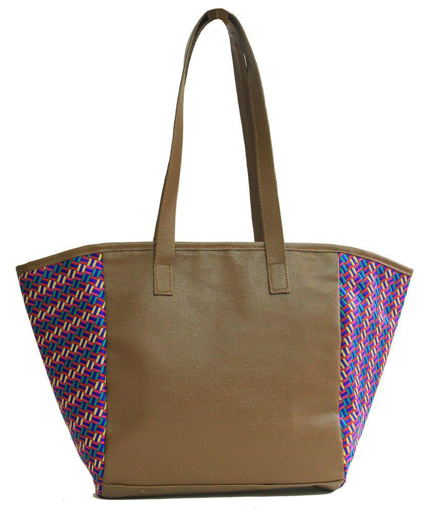 freeda creations Brown Tote Bags