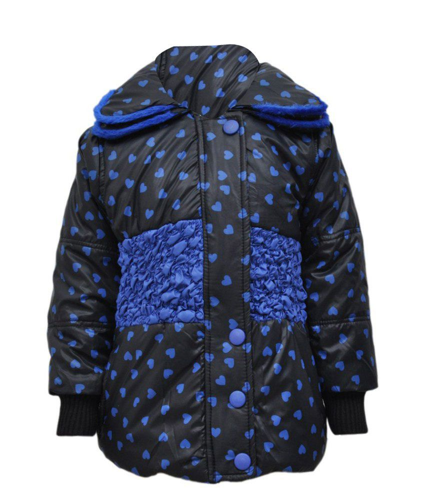 Come In Kids Black Acrylic Full Sleeves Padded Jacket