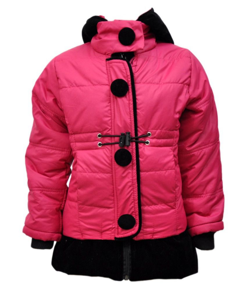Come In Kids Pink Acrylic Full Sleeves Padded Jacket