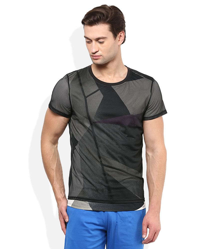 Puma Black Round Neck T-Shirt