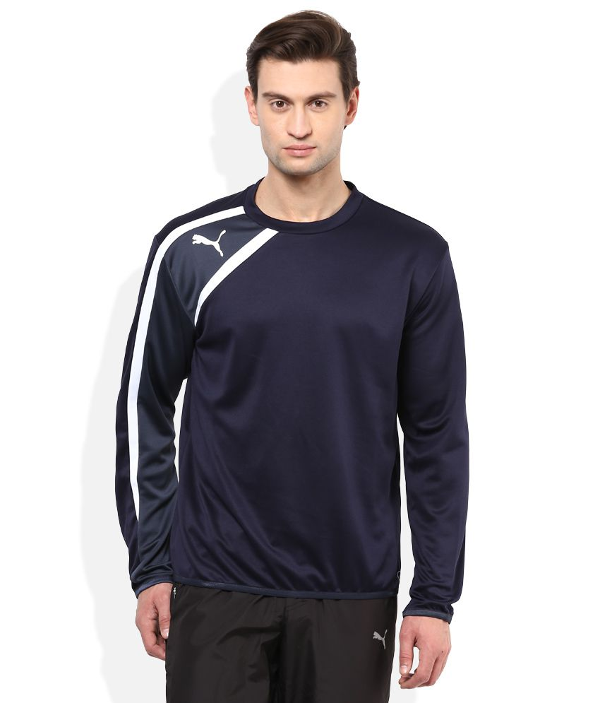 Puma Navy Round Neck T-Shirt